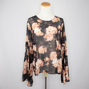 Lord & Taylor black sheer blouse ladies (L)